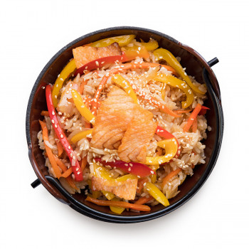 Рис с лососем 370гр
